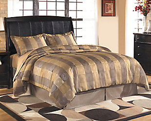 Harmony Queen/Full Sleigh Headboard, Dark Brown, rollover