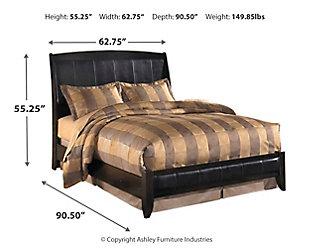 Harmony Queen Platform Style Bed, Dark Brown, large