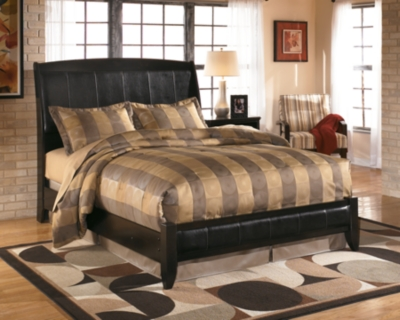 Platform Style Bed Dark Brown King Product Photo 1563