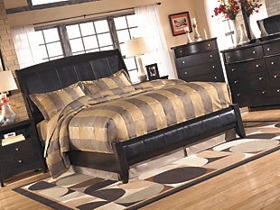 Harmony King Platform Style Bed, Dark Brown, large