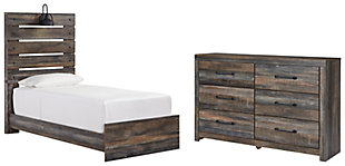 Drystan Twin Panel Bed with Dresser, , large