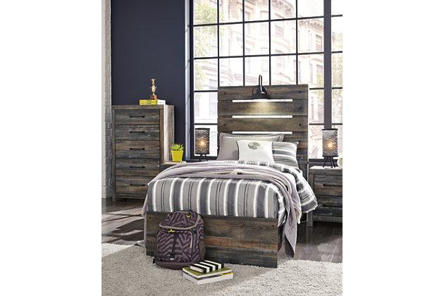 Drystan Twin Panel Bed, Multi, large
