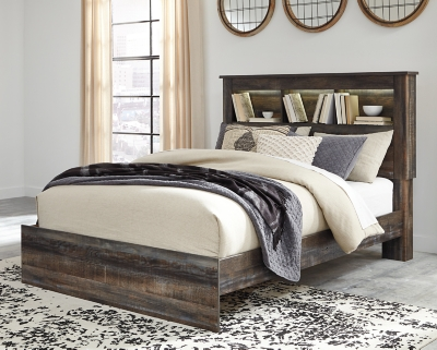 Drystan Queen Bookcase Bed, Multi, large