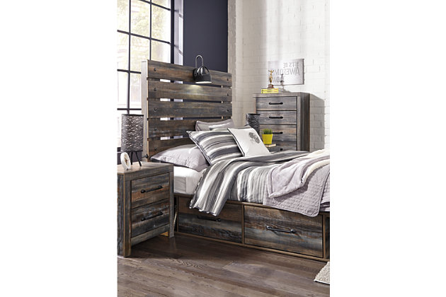 Drystan Full Panel Bed with 4-Storage, Multi, large