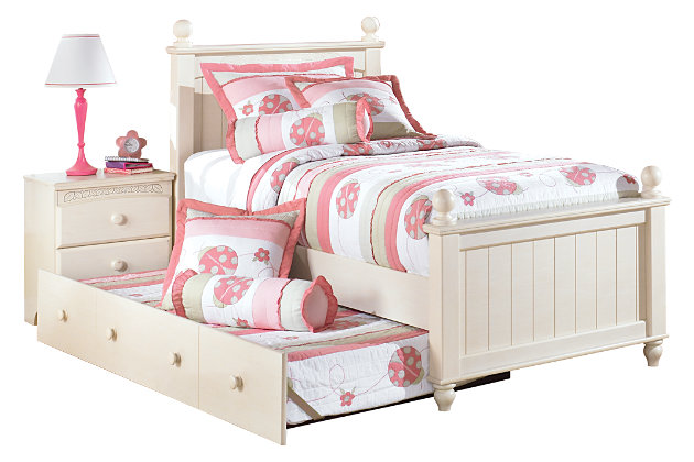 Cottage Retreat Twin Poster Bed Trundle picture