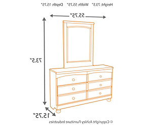 Cottage Retreat Dresser and Mirror, , large