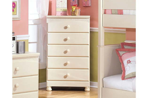 Cottage Retreat Chest of Drawers by Ashley HomeStore, White