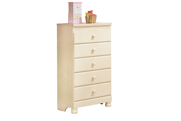 White Cottage Retreat Chest of Drawers by Ashley HomeStore