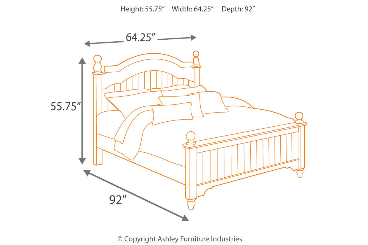 Cottage Retreat Queen Poster Bed | Ashley Furniture HomeStore
