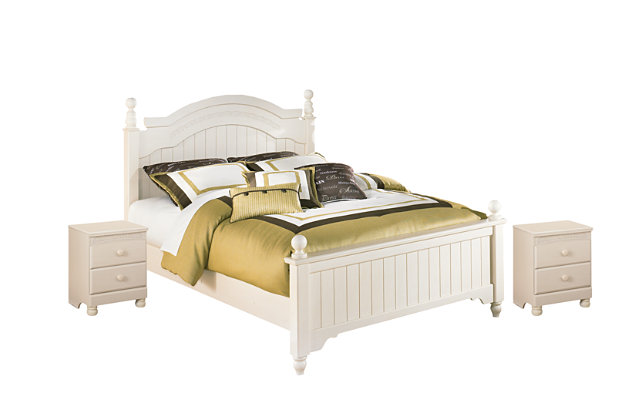 Cottage Retreat Full Bed with 2 Nightstands, , large