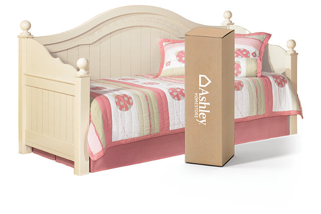 Cottage Retreat Twin Day Bed With 8 Quot Memory Foam Mattress In A Box Ashley Furniture Homestore
