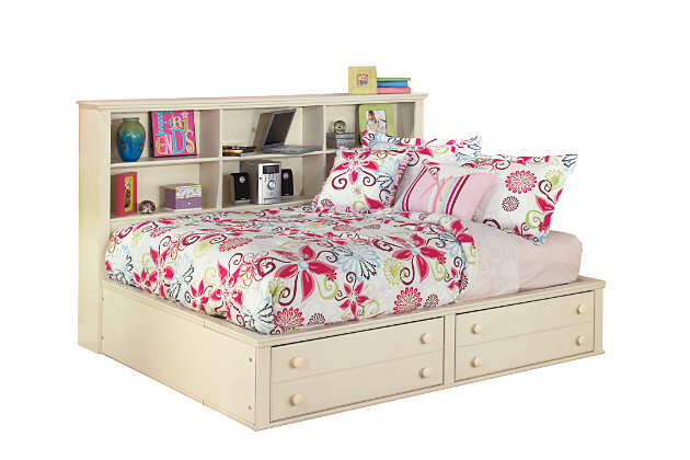 White Cottage Retreat Twin Bookcase Bed by Ashley HomeStore