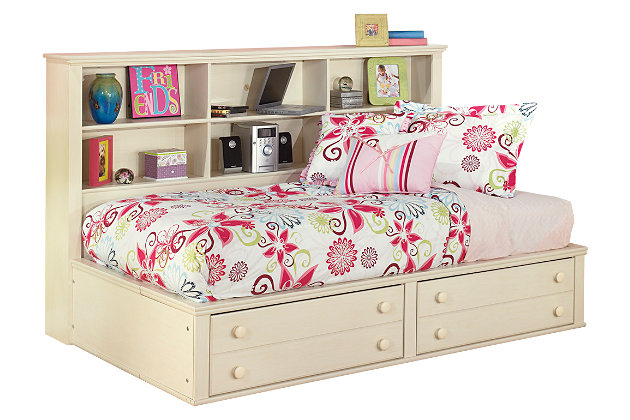 Cottage Retreat Twin Bookcase Bed, Cream Cottage, large