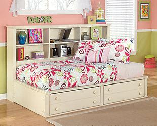 Cottage Retreat Full Bookcase Bed, Cream Cottage, large
