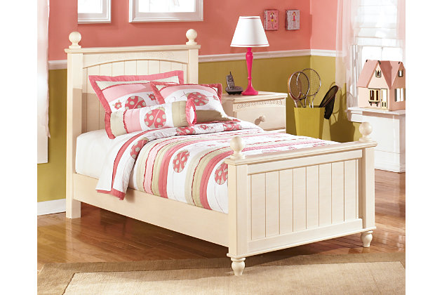 Cottage retreat twin poster bed ashley furniture homestore - Cottage retreat bedroom furniture ...