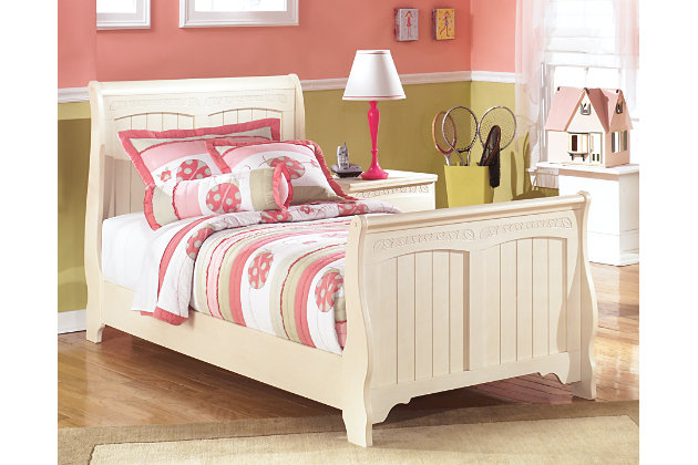 Cottage retreat twin sleigh bed ashley furniture homestore Cottage retreat collection bedroom furniture