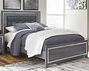 Lodanna Queen Panel Bed, Gray, rollover