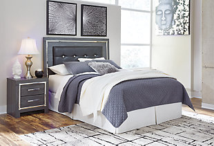Lodanna Queen/Full Upholstered Panel Headboard, Gray, large