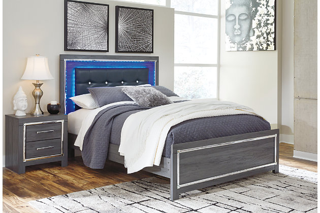 Lodanna Queen Panel Bed, Gray, large