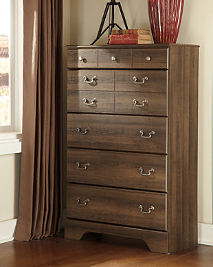 Allymore Chest of Drawers, Brown, rollover