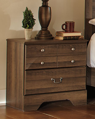 Allymore Nightstand, Brown, rollover