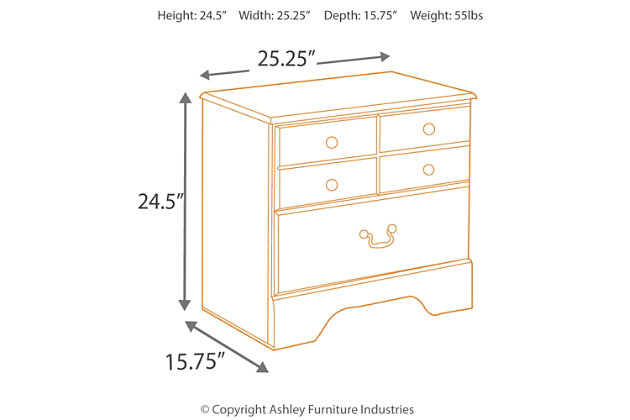allymore nightstand | ashley furniture homestore
