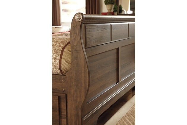 Allymore Queen Sleigh Bed, Brown, large