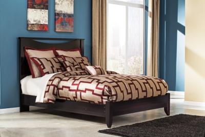 Panel Bed Merlot Queen Product Photo 2958