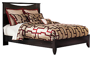 Zanbury Queen Panel Bed, Merlot, large
