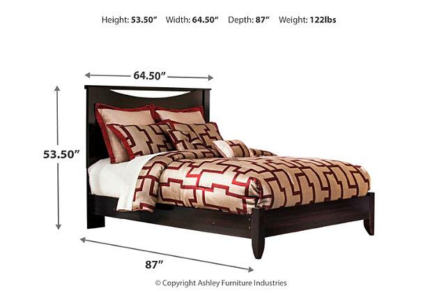 Zanbury Queen Panel Bed, Merlot, large