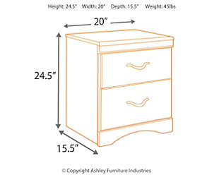 Zanbury Nightstand, , large