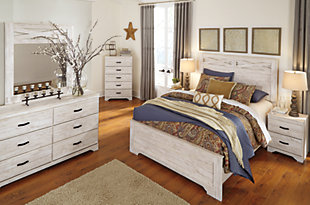Briartown Queen/Full Panel Headboard, Whitewash, large