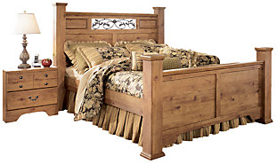 Bittersweet King Poster Bed, Light Brown, large
