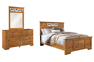 Bittersweet Queen Panel Bed with Mirrored Dresser, , large