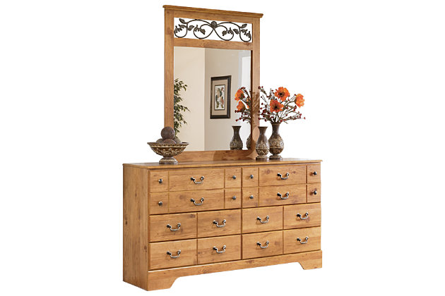 Light Brown Bittersweet Dresser and Mirror by Ashley HomeStore