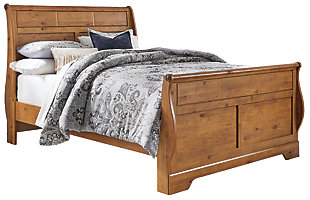 Bittersweet Queen Sleigh Bed, Light Brown, large