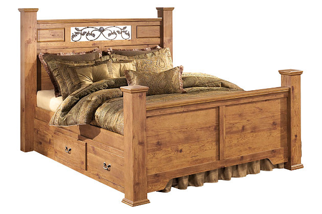 Bittersweet King Poster Bed with Storage, , large