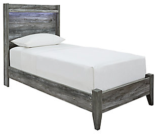Baystorm Twin Panel Bed, Gray, large