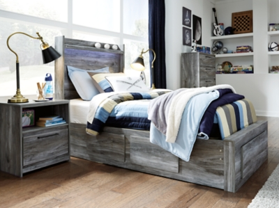 Baystorm Twin Panel Bed With 3 Storage Drawers Ashley Furniture Homestore