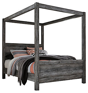 Baystorm Queen Poster Bed Gray