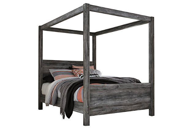 Baystorm Queen Poster Bed, Gray, large