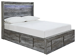 Baystorm Full Panel Bed with Storage, Gray, large