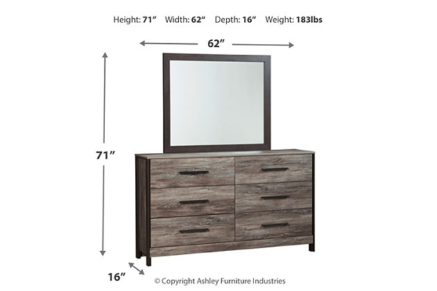 Cazenfeld Dresser and Mirror, , large