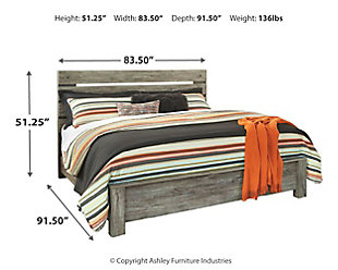 Cazenfeld King Panel Bed, Black/Gray, large