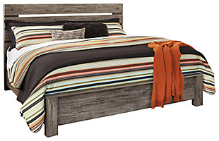 Cazenfeld King Panel Bed, Black/Gray, large