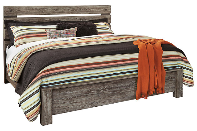 Cazenfeld King Panel Bed by Ashley HomeStore, Black