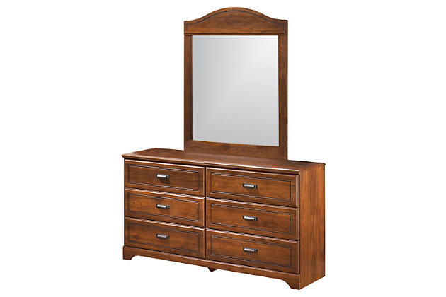 Brown Barchan Dresser and Mirror by Ashley HomeStore