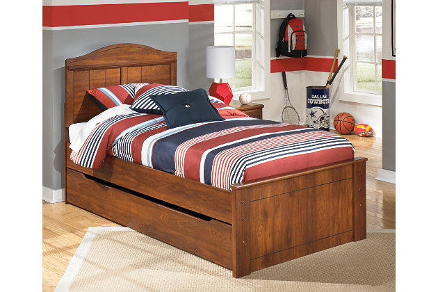 Barchan Twin Panel Bed with Trundle by Ashley HomeStore, Brown
