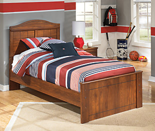 Barchan Twin Panel Bed, Medium Brown, rollover