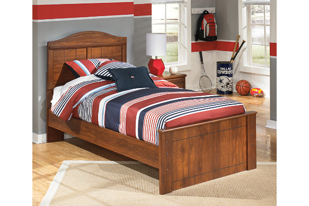 Barchan Twin Panel Bed, Medium Brown, large